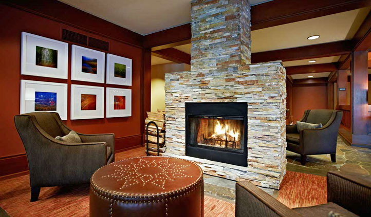 Open fires at Salish Lodge & Spa