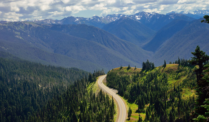 Follow epic mountain roads
