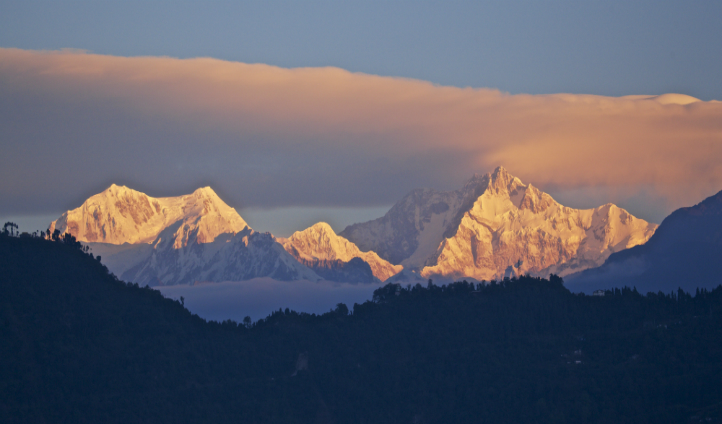 Mt Kanchenjunga is your backdrop