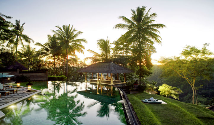 Take a dip in the swimming pool and outlook the endless greenery