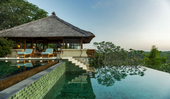 The pool at the Amandari Bali