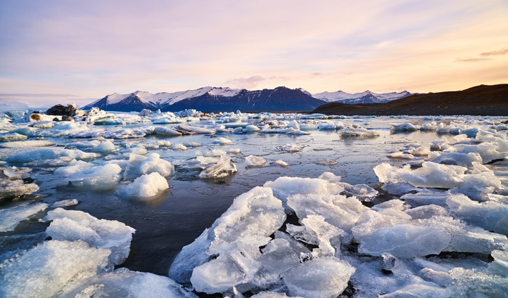 Awe at the striking landscapes of Jokulsarlon glacier lagoon