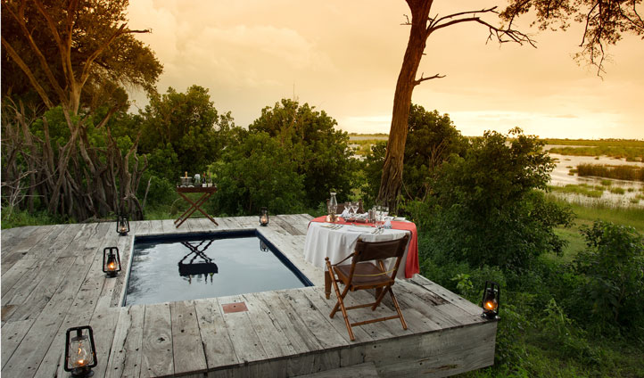 Private dining by your private pool