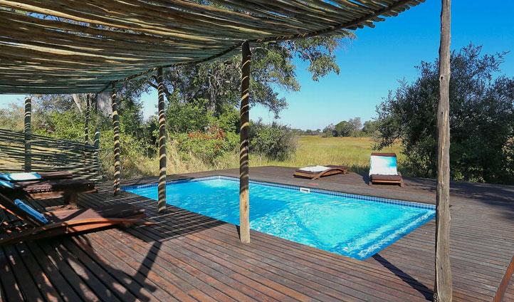 Motswiri's beautiful pool area