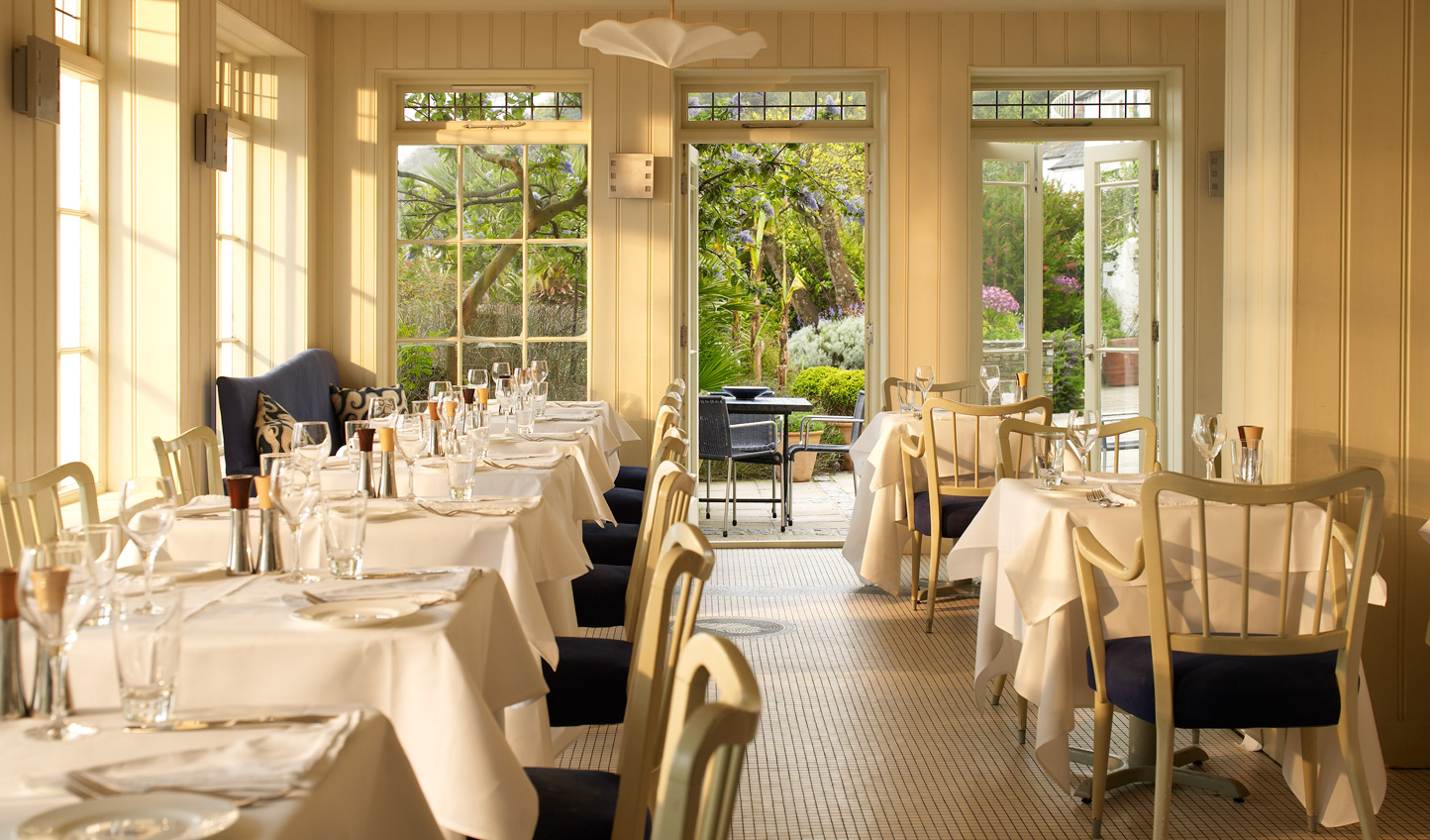 Dine on fresh product in the beautiful restaurant