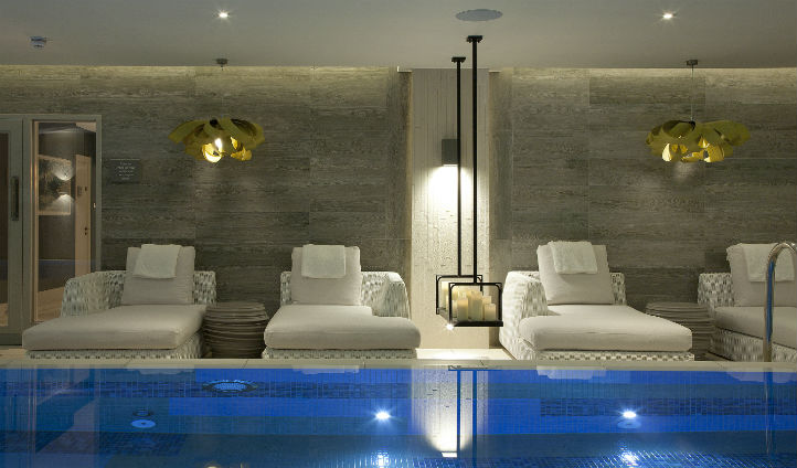 Relax by the pool at Dormy House Spa