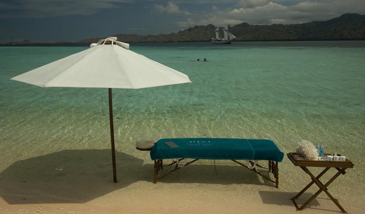 Enjoy a massage on the shore