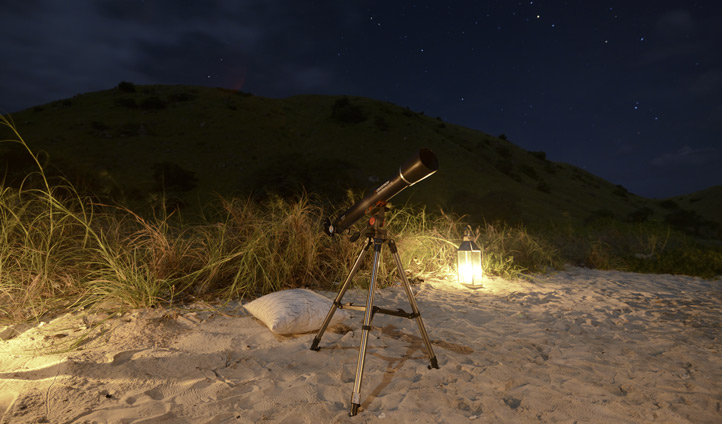 Star gazing on a secluded beach