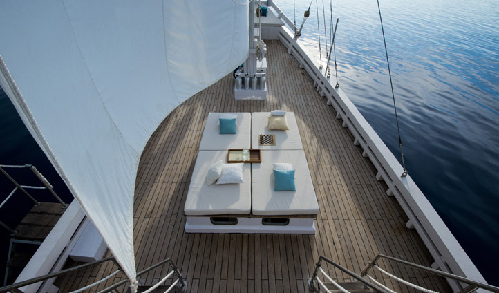 Recline on your private deck