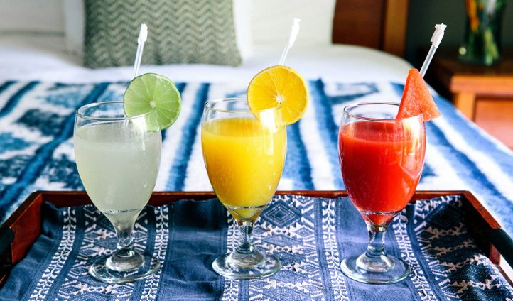 Wake up to fresh juices every morning