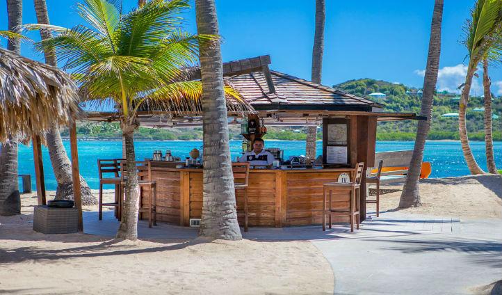 Enjoy a drink at the Beach Bar