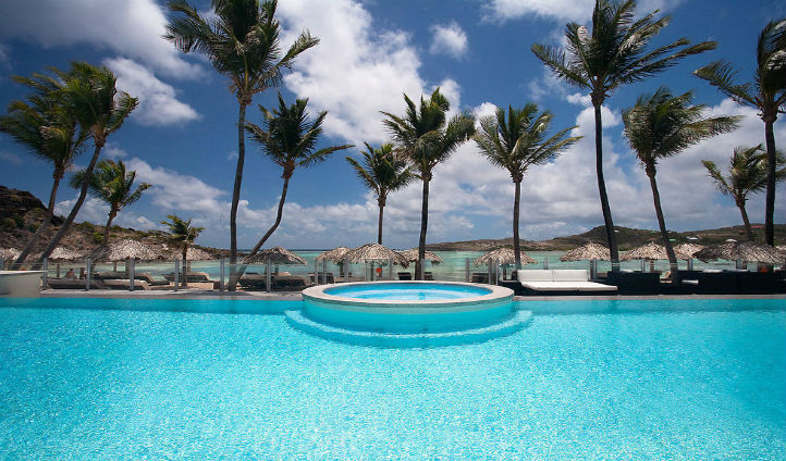 Take a dip in the pool overlooking incredible views