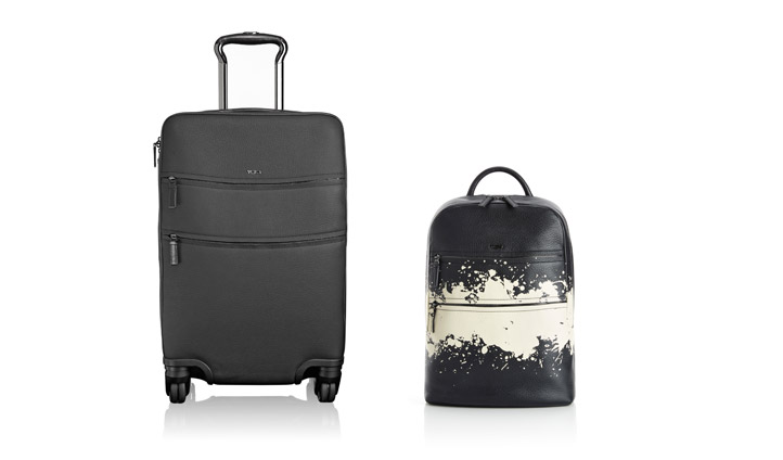 TUMI Landon Elmore International Carry On and Alcott Splatter Stripe Backpack
