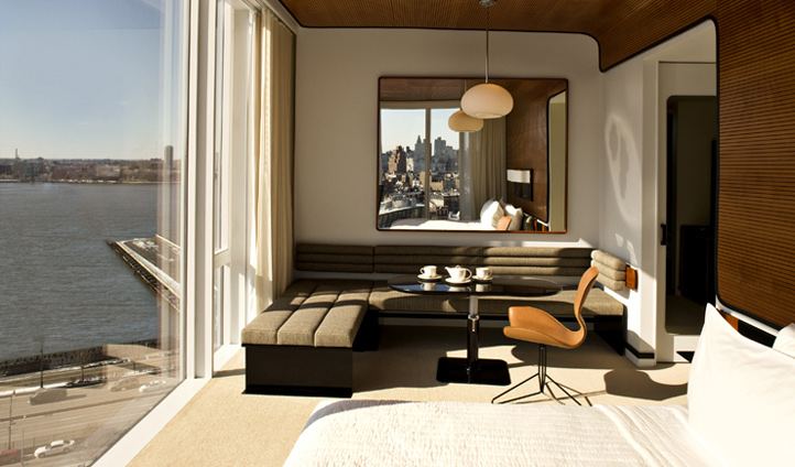 The chic rooms at The Standard Highline