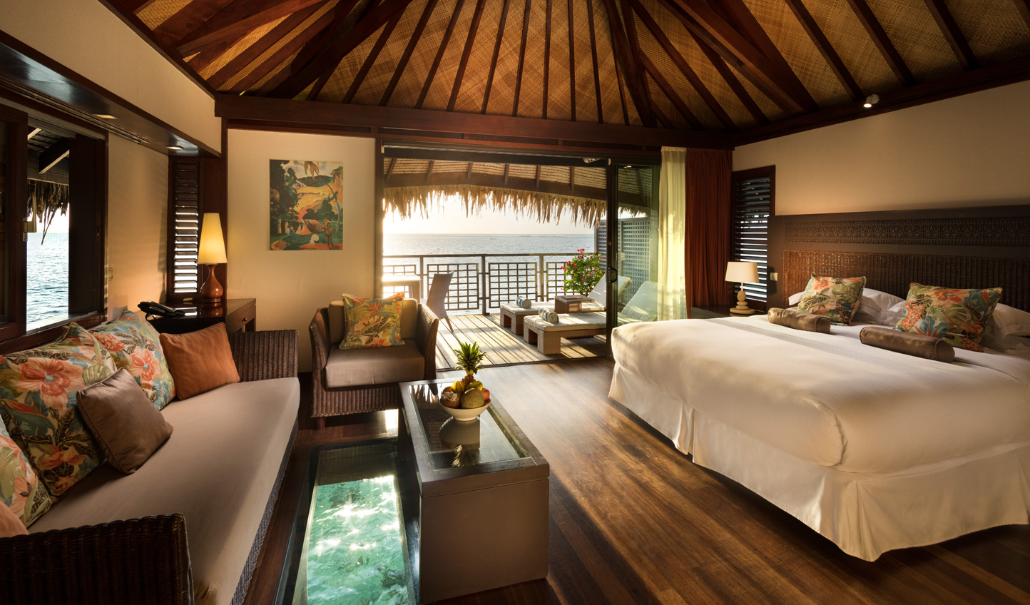 Sleep atop the ocean in one of the romantic overwater bungalows