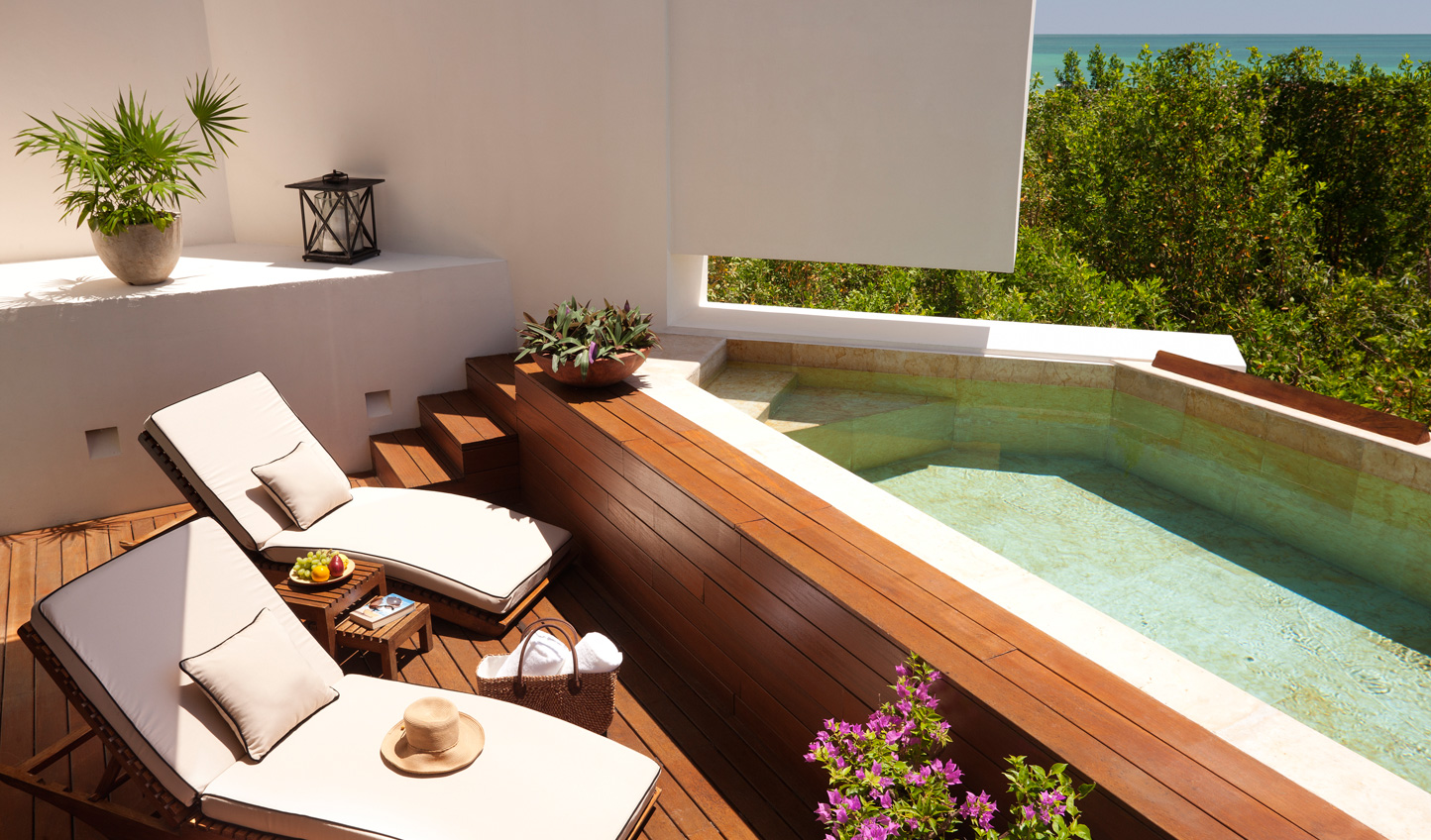 Cool off in your private plunge pool