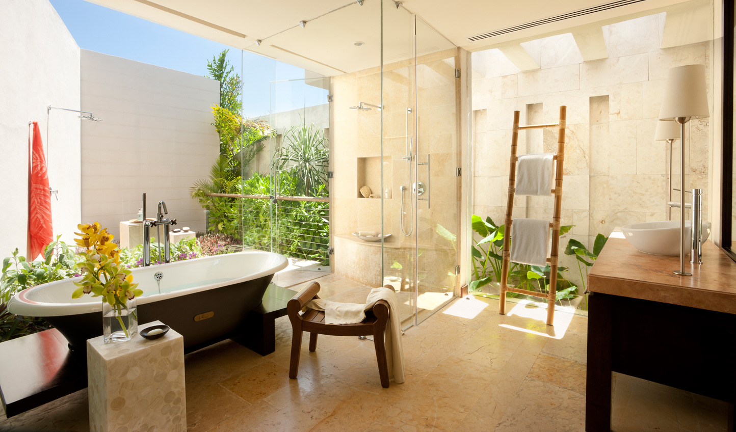 Stunning bathrooms bring the outside in
