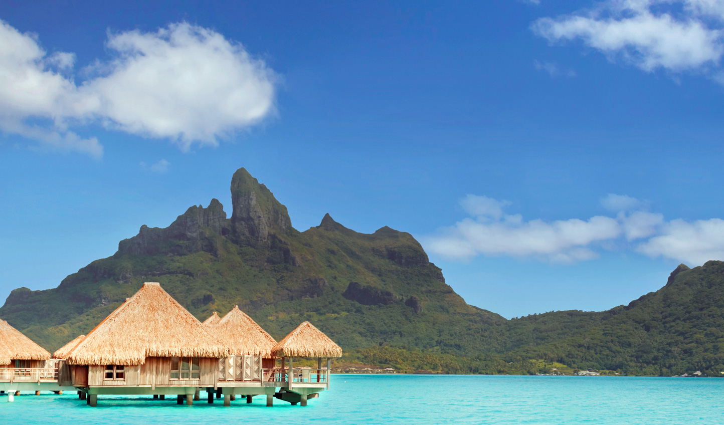 Crystal clear waters and bright blue skies characterise your stay in Bora Bora