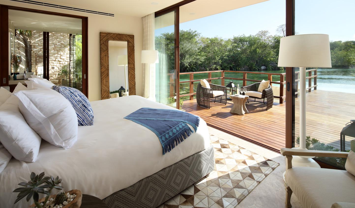 Wake up to beautiful views across the lagoon
