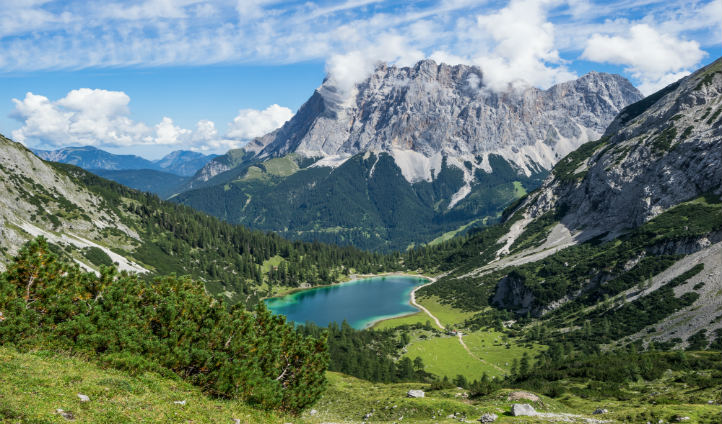 Visit Germany's highest peak, Mount Zugspitze