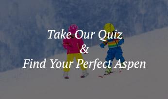 Children ski the slopes of Aspen, Colorado