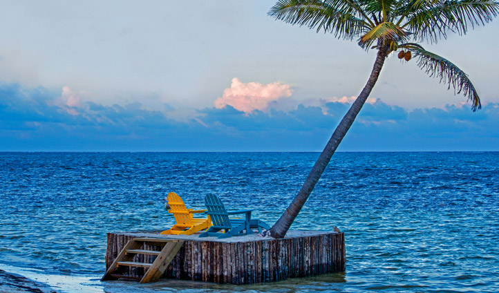 A view of the Sea at Ambergris Caye, Belize