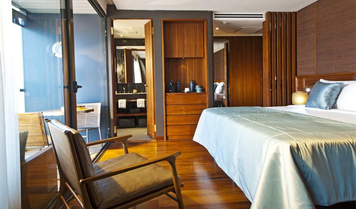 Suite with sliding doors onto balcony