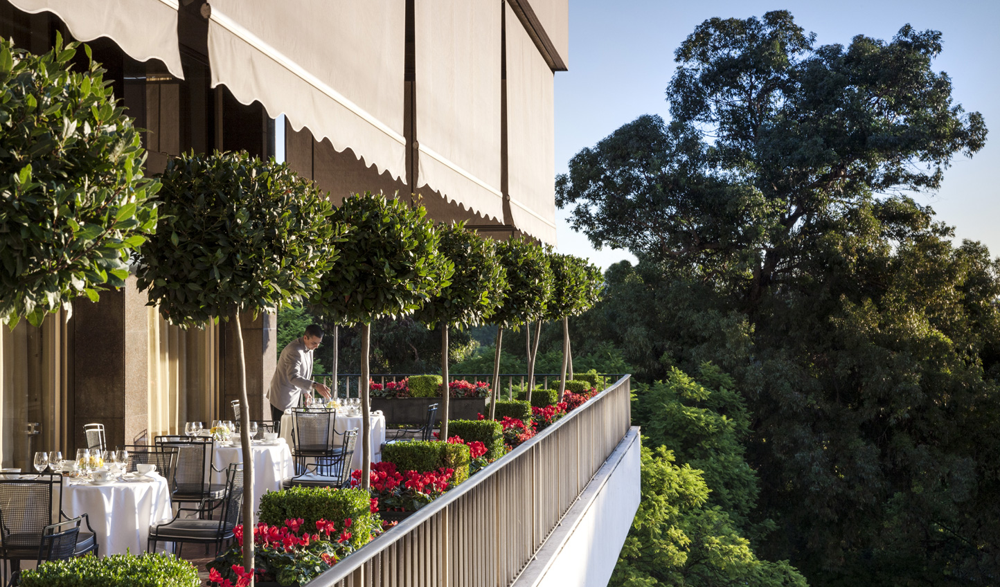 Enjoy beautiful views of the city over breakfast