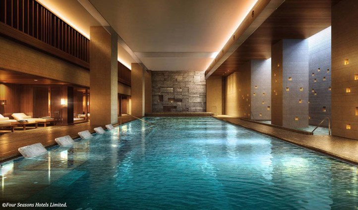 The pool at Four Seasons Kyoto, Japan
