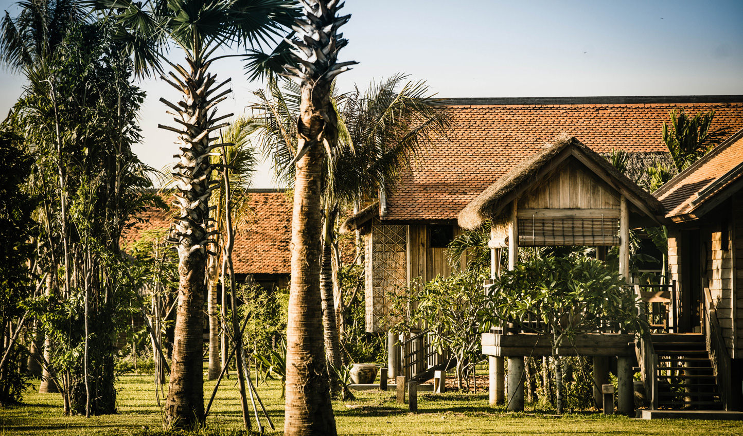 Feel at home in your traditional Cambodian stilted villa