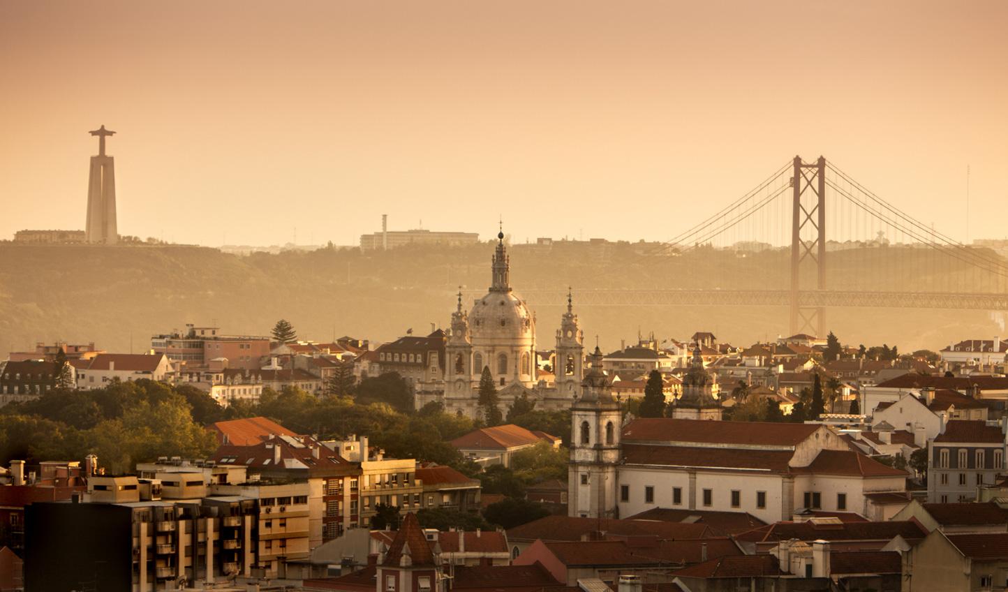 Catch a glimpse of the city's famous dusky pink hue