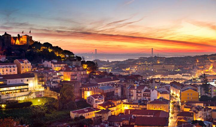 Catch the sunset over Lisbon