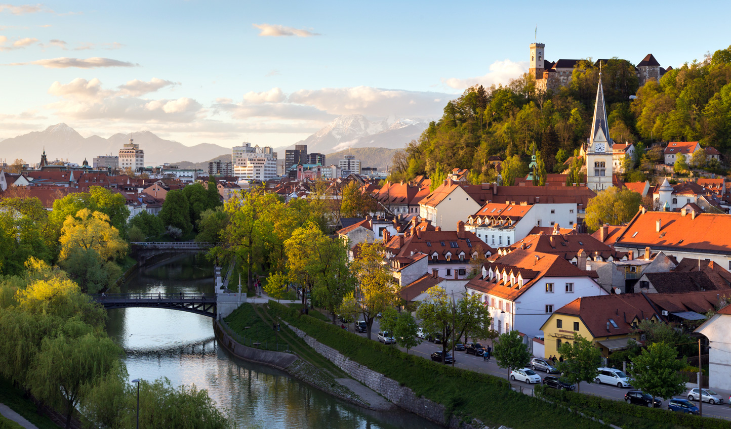 Stroll along the river in Ljubljana