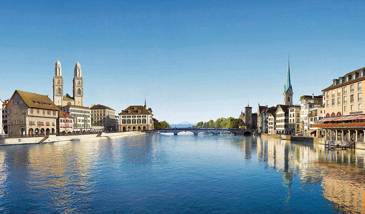 View of River Limmat, Zurich | Black Tomato