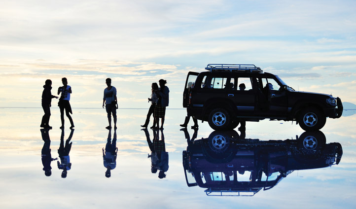 Group in Salar de Uyuni Bolivia