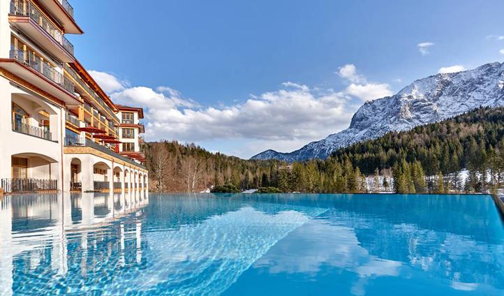 Schloss Elmau pool views