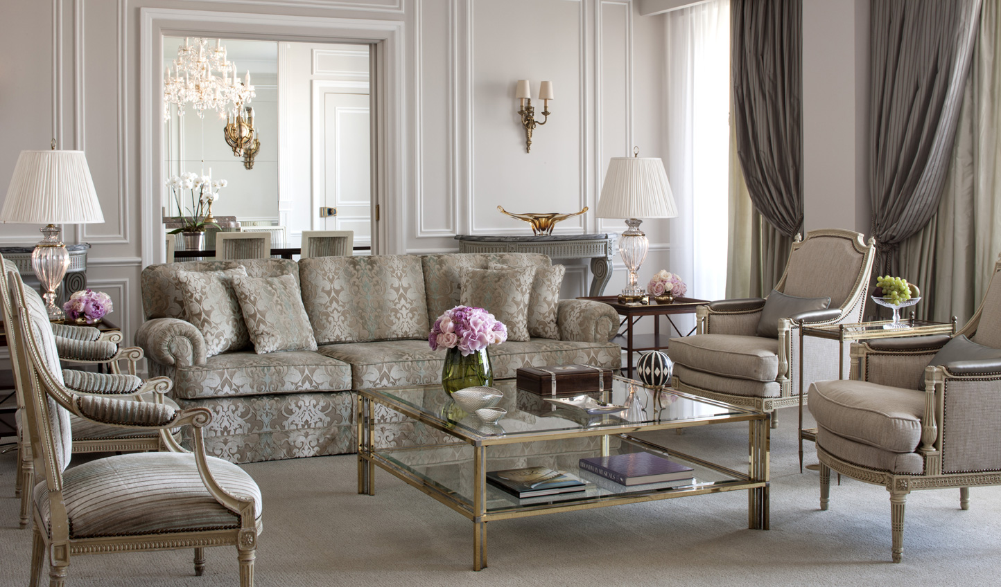 Make yourself at home in one of the opulent suites