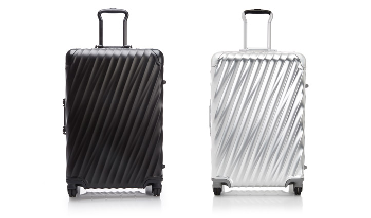 TUMI's 19 Degree Aluminum Packing Cases in Matte Black or Silver will see there in style