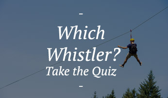 Whistler's famous zip-line