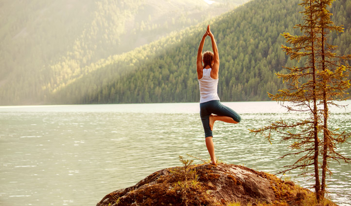 Yoga by the lakes of Whistler