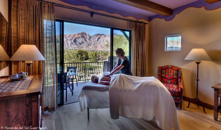 In room spa treatments with a view