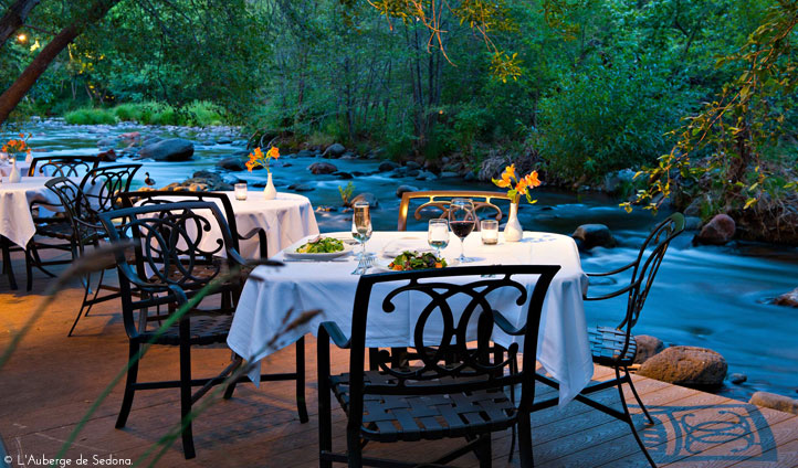 Dine by candlelight beside creek rivers