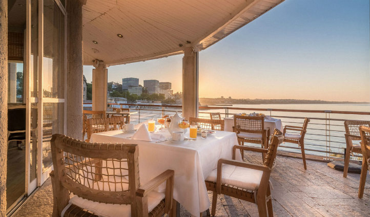 Enjoy breakfast with a view