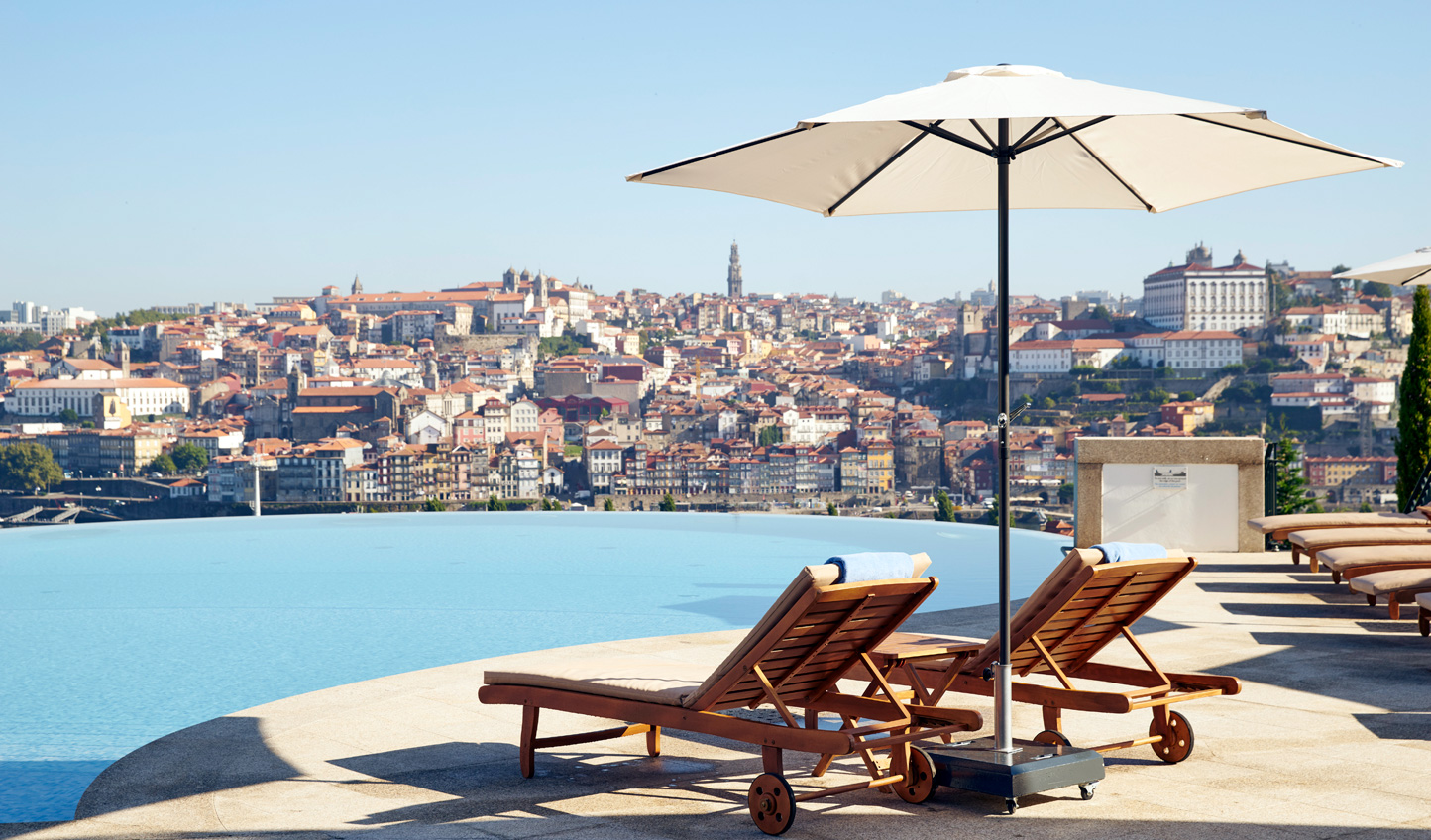 Glorious views over Porto from the pool