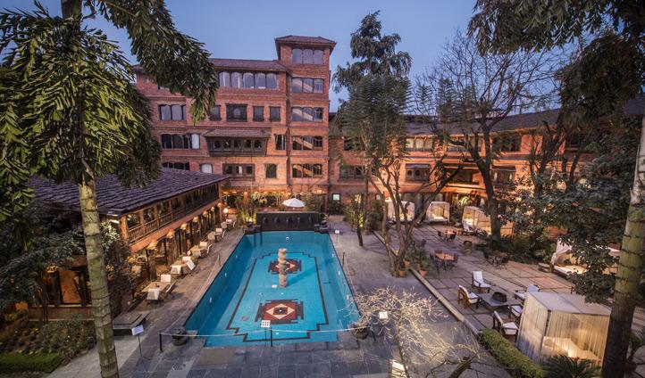Dwarika's Kathmandu pool