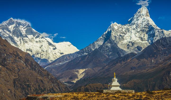 Admire the scenic mountains of Kathmandu