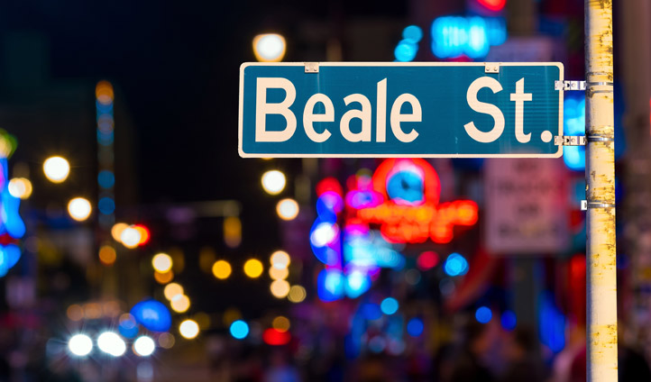 The iconic Beale Street, Tennessee