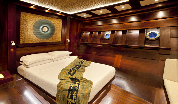 The luxurious cabins of Dunia Baru
