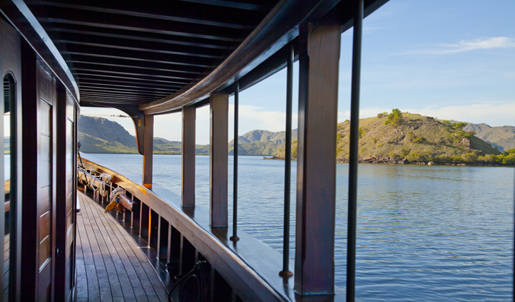 Stroll along the teak decks and take in the scenery
