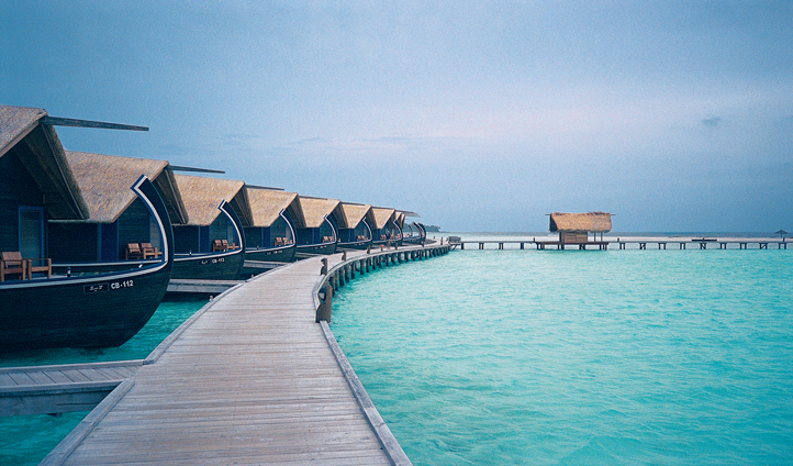 Dhoni inspired over water villas